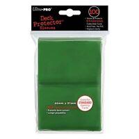 100 ULTRA PRO Card Game Sleeve Deck Protector MTG Magic Standard 82693 Green New