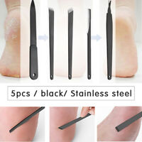 5PCS Nail Clippers Set Cuticle Set Dead Skin Remover Manicure Pedicure  new