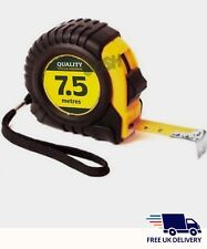 Tape Measure 7.5M/25ft QUALITY TOOL Measurement Lock Mechanism Metre Cm Inch