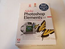 Adobe Photoshop Elements 5.0 for Windows XP w/ Serial Number & Manual in Case