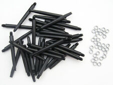 Bulk Pack of 30 Deflectagrip Nylon Dart Stems with SPRINGS - Black Medium