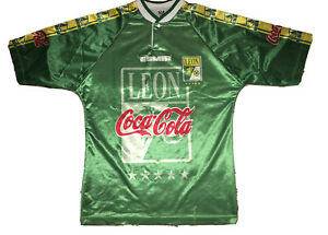 VTG Pirma Club Leon Esmir Men's Green Soccer Jersey Mexico sz Large