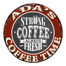 CWCT-0310 ADA'S COFFEE TIME Chic Tin Sign Decor Gift Ideas