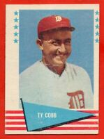 1961 Fleer #14 Ty Cobb EX/EX WRINKLE Detroit Tigers HOF FREE SHIPPING