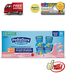 PediaSure Grow & Gain Nutrition Shake for Kids, Strawberry (8 fl. oz., 24 pk.)