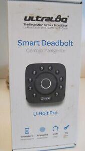 NEW Ultraloq U-BOLT-PRO-UB01 Bluetooth DEADBOLT Fingerprint  Keypad Smart lock