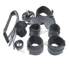 Bondage Kit Set for BDSM Experts, with Whip, Collar, Mask, Mouth Gag, Handcuffs