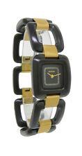 Nixon A285 1036 Sisi SS Women's Black & Gold Tone Square Analog Open Link Watch