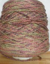 COTTON RAYON ROVING 1100 YPP DK/WORSTED CONE YARN 8 1/4 LBS MULTI ROSE (C21)