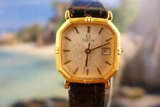 Classic, Gold Plated Titus Ladies 24mm Date Manual Wind