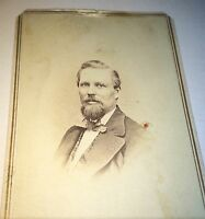 Antique Victorian American Civil War Fashion Man Scranton Pennsylvania CDV Photo