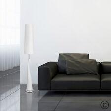 Modern Gloss White Ceramic  Silver Chrome Floor Standing Standard Lamp Light