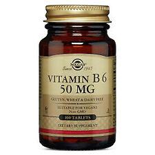 Vitamin B-6 50mg Solgar 100 Tabs