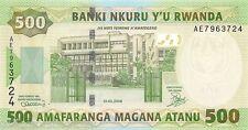 Rwanda 500 Francs 2008 Unc pn 34