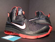 2011 Nike Air Max LEBRON IX 9 BRED BLACK WHITE SPORT RED 469764-003 NEW