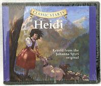 NEW Classic Starts Heidi Audio CD Retold by Johanna Spyri Children Kids Stories