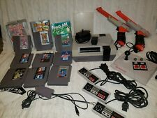 Orignal Nes Console/Games/Accessories Lot - All Preowned Tested Works