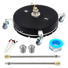 20 Pressure Surface Cleaner 4000psi 4 Wheels 2 Nozzles Amp 2x17 Extension Wands