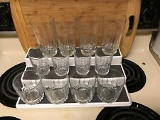 "LOT OF 12  ARCOROC ""LANCER"" GLASSES.  4@ FLAT TUMBLERS, OLD FASHIONEDS, JUICE"