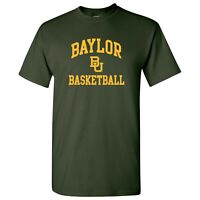 Baylor Bears Arch Logo Basketball T-Shirt - Forest