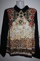 Party Bluse silk chiffon Hemdblusen BERSHKA damen  Gr. S M L  36/38  40 42 NEU