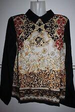 Fiesta blusa Silk chifón blusas bershka señora talla S M L 36/38 40 42 nuevo