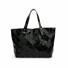 Fashion Women Quilted Sequin Shoulder Bag Geometric Lattice Laser Ladies Handbag