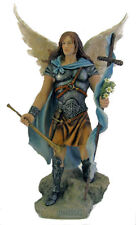 Archangel Gabriel Statue, Hand Painted Color, 14""