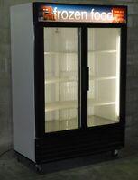 Refurbished Two Glass Door Freezer