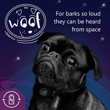 The Woof Whisperer Anti Bark Collar Rechargeable Anti Barking No Shock Vibrating
