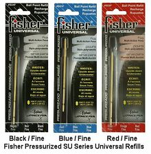 "Fisher Space Pen / Three ""SU"" Universal Ink Refill Pack / 1 of each Color"