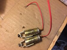 2 Vintage Pyramid .1 uf 600v PIO Capacitors Vitamin Q Oil Tone Caps tested