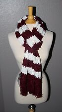 NEW Texas A&M University Aggies Colors -  Knit Scarf - Maroon and White