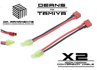 Airsoft RC Car Deans to mini Tamiya Connector cable Male to Female set UK Stock