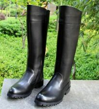 Mens Leather Knee High Equestrian Boots Germany Riding Military Boots Shoes New