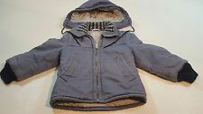 Vintage Penney's Outerwear Quilted Toddler Coat Size 4 Blue Work Jacket
