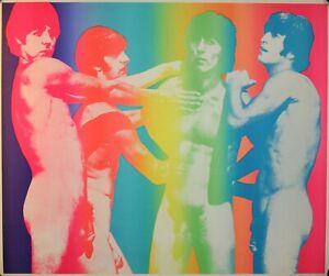 The Beatles original vintage psychedelic nude poster 1968 BANNED Bernstein
