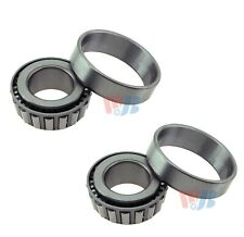 Pair 2 Front Outer WJB Wheel Bearing Race Sets for Chevy Dodge Mazda Benz Volvo