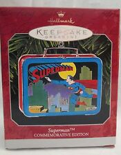 1998 Superman Commemorative Lunch Box Hallmark Ornament DC Comics New In Box