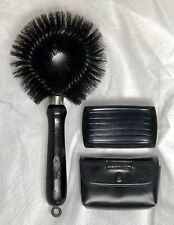 Lot/2 Vintage Stanley Clothes Lint Brush Handle Travel Case Made in USA