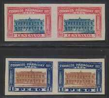 PARAGUAY 1922 PARLIAMENT Sc 243a-244a FULL SET OF IMPERF PAIRS UNUSED VF