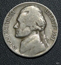 1951-D Circulated Jefferson Nickel Free Shipping Satisfaction Guaranteed