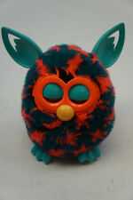 2012 Hasbro FURBY BOOM Teal with Orange Red Stars - TESTED - WORKS GREAT!