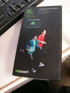 **NEW** ADIDAS MICOACH FIT SMART WORKOUT COACH HEART RATE MONITOR BLACK HRM