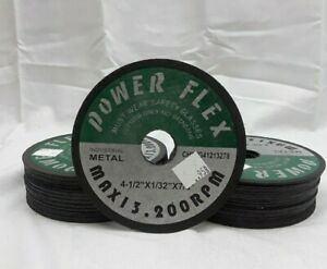 "Lot of 50 Power Flex Cut-Off Wheel 4.5"" x 1/32"" x 7/8"" 13200RPM"