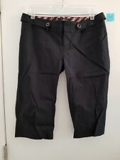 NEW Rock & Republic Women's Black Navy Sailor Capri Smooth Twill Cropped Pants 6
