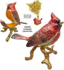 Cardinal Jeweled Trinket Box with Austrian Crystals #2