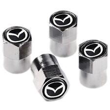 4 novelty Schrader Tyre Cap Wheel Valve Air Dust Screw Car Mazda Gift