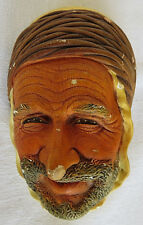 VTG Bossons Wall Ornament Chalkware Face of PERSIAN HandPainted England
