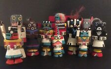 Group of 10 Vintage Hopi Route 66 Kachina Dolls